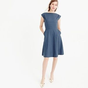 J. Crew cap sleeve 100% wool dress